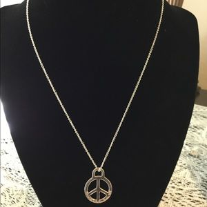 Tiffany& Co. Signed Peace Pendant Necklace